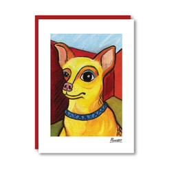 Pawcasso Chihuahua Note Card