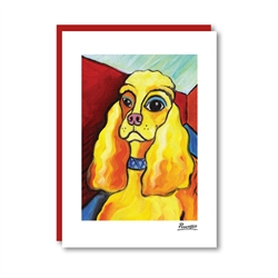 Pawcasso Cocker Spaniel Note Card
