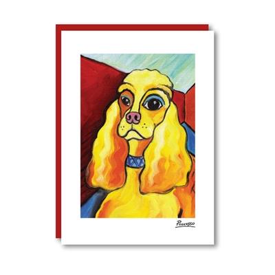 Pawcasso Cocker Spaniel Note Card