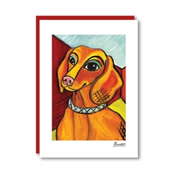 Pawcasso Dachshund Note Card