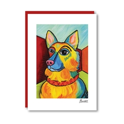 Pawcasso German Shepherd Note Card