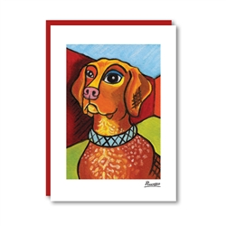 Pawcasso German Shorthaired Pointer Note Card