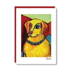 Pawcasso Golden Retriever Note Card