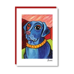 Pawcasso Labrador Note Card