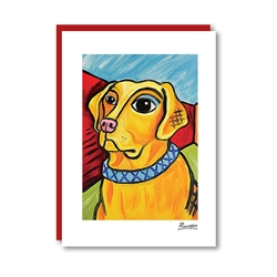 Pawcasso Labrador (yellow) Note Card
