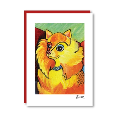 Pawcasso Pomeranian Note Card
