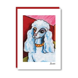 Pawcasso Poodle Note Card
