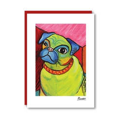Pawcasso Pug Note Card