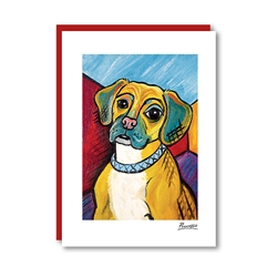 Pawcasso Puggle Note Card