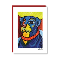 Pawcasso Rottweiler Note Card