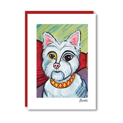Pawcasso West Highland Terrier Note Card