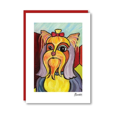 Pawcasso Yorkshire Terrier Note Card