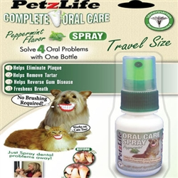 PetzLife Oral Care Travel SPRAY - 1 ounce