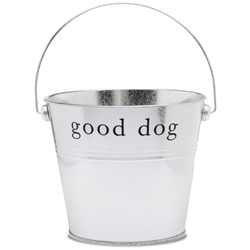 "Silver ""Good Dog"" Bucket"