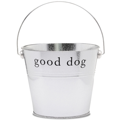 "Silver ""Good Dog"" Bucket"