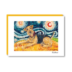 Van Growl AIREDALE TERRIER Note Card