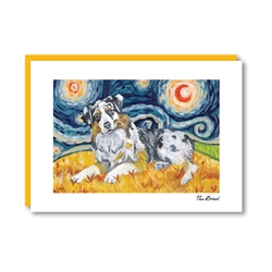 Van Growl Australian Shepherd Note Card