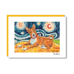 Van Growl BASENJI Note Card