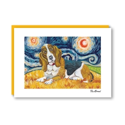 Van Growl BassettHound Note Card