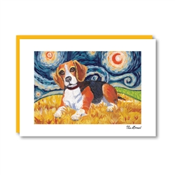 Van Growl Beagle Note Card