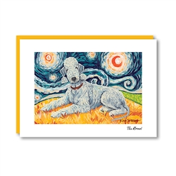 Van Growl BEDLINGTON TERRIER Note Card