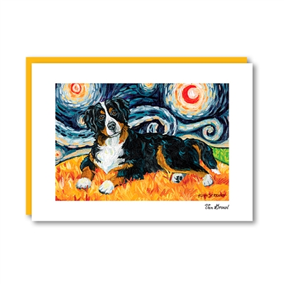 Van Growl Bernese Mountain Dog Note Card