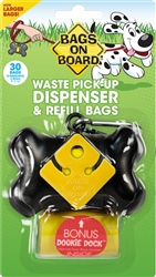 Black Bone Dispenser  Bags on Board w/ 30 bags
