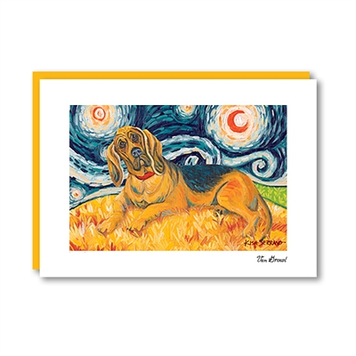 Van Growl BLOODHOUND Note Card