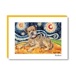 Van Growl Border Terrier Note Card