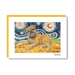 Van Growl Brussels Griffon Note Card