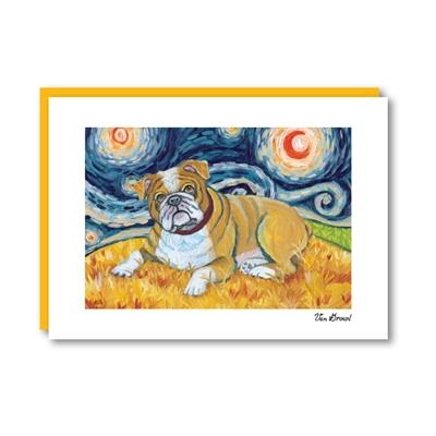 Van Growl Bulldog Note Card
