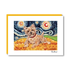 Van Growl Cairn Terrier Light Note Card