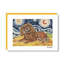 Van Growl Cavalier King Charles Spaniel-Ruby Note Card