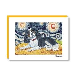 Van Growl Cavalier King Charles Spaniel-TriColor Note Card