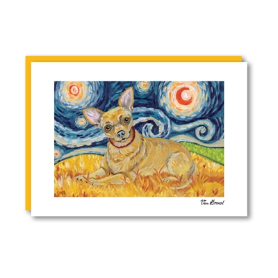 Van Growl Chihuahua Note Card