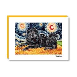 Van Growl ChowChow Black Note Card