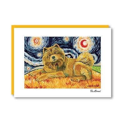 Van Growl ChowChow Light Note Card