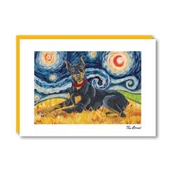 Van Growl DobermanPinscher Note Card