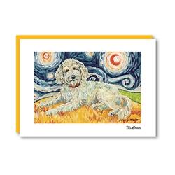 Van Growl Doodle Cream Note Card