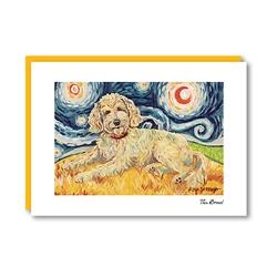 Van Growl Doodle Golden Note Card