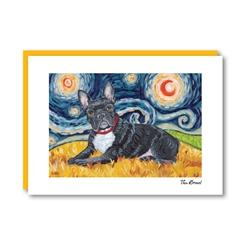 Van Growl French Bulldog Note Card