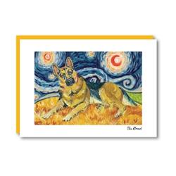 Van Growl German Shepherd Note Card