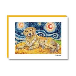 Van Growl Golden Retriever Note Card
