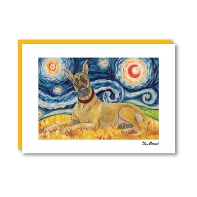 Van Growl Great Dane Note Card