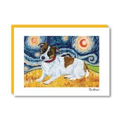 Van Growl JackRussell Terrier Note Card