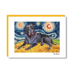 Van Growl Labrador Black Note Card