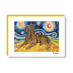 Van Growl Labrador Chocolate Note Card