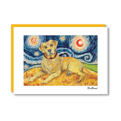 Van Growl Labrador Yellow Note Card