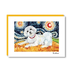 Van Growl Maltese Puppy Cut Note Card
