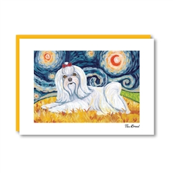 Van Growl Maltese  Note Card